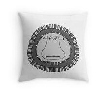 Crazy Hippo Pillow Throw Pillow