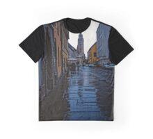 Rainy Street in Buda, Hungary 2001 Graphic T-Shirt