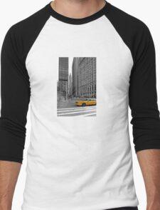 NYC Yellow Cabs Trinity Place Men's Baseball ¾ T-Shirt