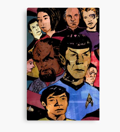 Faces of the Final Frontier Canvas Print