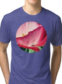 Red Poppy in Sunlight Tri-blend T-Shirt