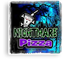 Nightmare Pizza by Jeronimo Rubio 2016 Canvas Print