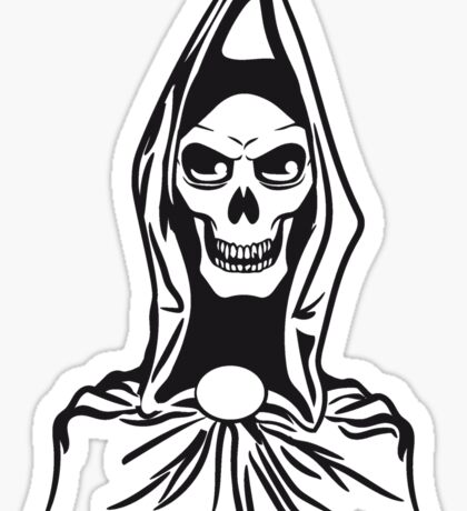 Death hooded robe evil Sticker