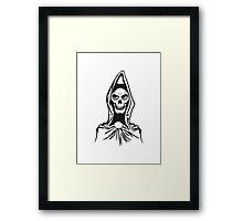 Death hooded robe evil Framed Print