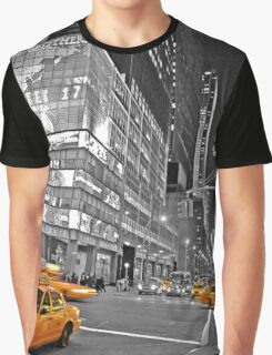 NYC Yellow Cabs Lehman Brothers Graphic T-Shirt