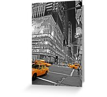 NYC Yellow Cabs Lehman Brothers Greeting Card