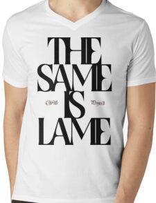 The Same Is Lame (Black) Mens V-Neck T-Shirt