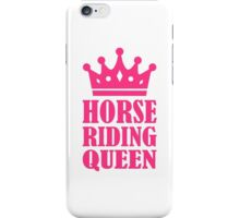 Horse riding queen iPhone Case/Skin
