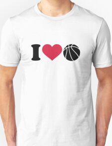 I love Basketball ball T-Shirt
