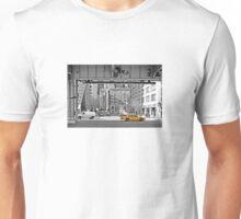 NYC Yellow Cabs Fish Market Unisex T-Shirt