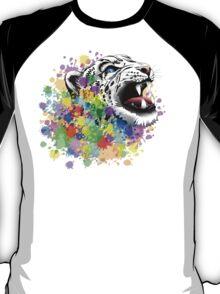 Leopard Psychedelic Paint Splats T-Shirt