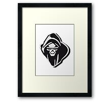 Death hooded evil sunglasses creepy Framed Print