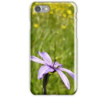 Blue Eyed Grass and Buttercups iPhone Case/Skin