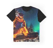 Snowboarding The Aurora Borealis  Graphic T-Shirt