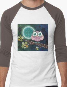 Midnight Owl Men's Baseball ¾ T-Shirt