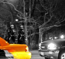 NYC Yellow Cabs Oscar Night Sticker