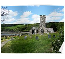 """ The Isolated Church of St Winnow"" Poster"