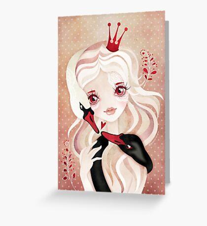 Swan Princess Greeting Card