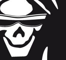 Death hooded evil sunglasses creepy Sticker
