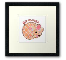 Go Away - Patterned Cat Illustration Framed Print
