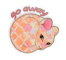 Go Away - Patterned Cat Illustration Photographic Print