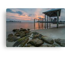 Sunset at the Cut - St. George Island Canvas Print