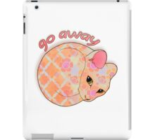Go Away - Patterned Cat Illustration iPad Case/Skin
