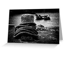Bollard & Boats Greeting Card