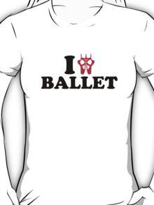 I love Ballet feet T-Shirt