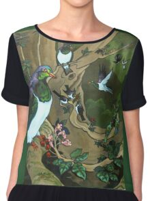 Pigeons, Parakeets and Fantails Chiffon Top