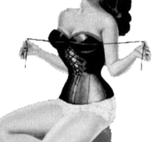 pinup glamour corset Sticker