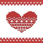 Red Knitted Look Love Heart Style iPhone  Case /  / Pillow / Tote Bag / Samsung Galaxy Case by CroDesign