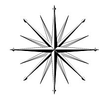 Nautical Wind Compass by Erik  Coleman
