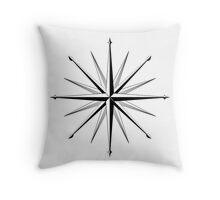 Nautical Wind Compass Throw Pillow