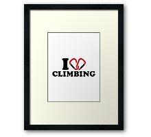 I love Climbing carabiner Framed Print