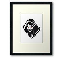 Death hooded evil creepy Framed Print