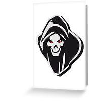 Death hooded evil creepy Greeting Card