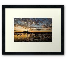 Low Tide Sunrise at the Lighthouse Framed Print