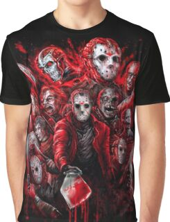 Jason Voorhees (Many faces of) Graphic T-Shirt