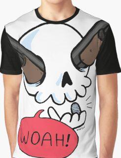 Guns a' Blazin! (skeleton with guns for eyes) Graphic T-Shirt