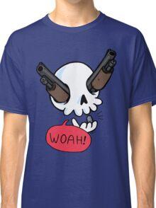Guns a' Blazin! (skeleton with guns for eyes) Classic T-Shirt