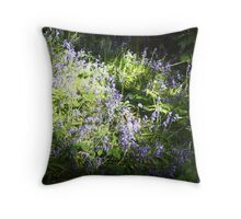 blue bells in the shadows Throw Pillow