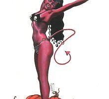 Drag Strip Devil Girl by KupKake