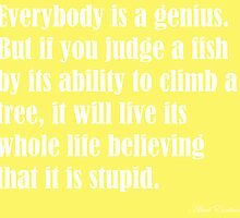 genius einstein quote by FreyaMcCauley