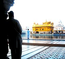 Reflection at Sikh Temple by the WORLD in a  FRAME