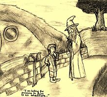 Bilbo Meets Gandalf by TejRql