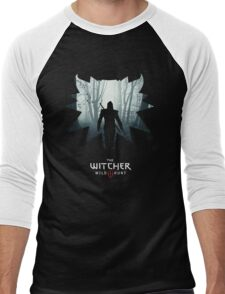 The White Wolf - The Witcher t-shirt / Phone case / Mug 1 Men's Baseball ¾ T-Shirt