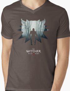 The White Wolf - The Witcher t-shirt / Phone case / Mug 1 Mens V-Neck T-Shirt
