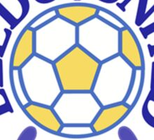 Leeds United Retro Badge Sticker