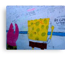 SpongeBob Learns Korean Canvas Print